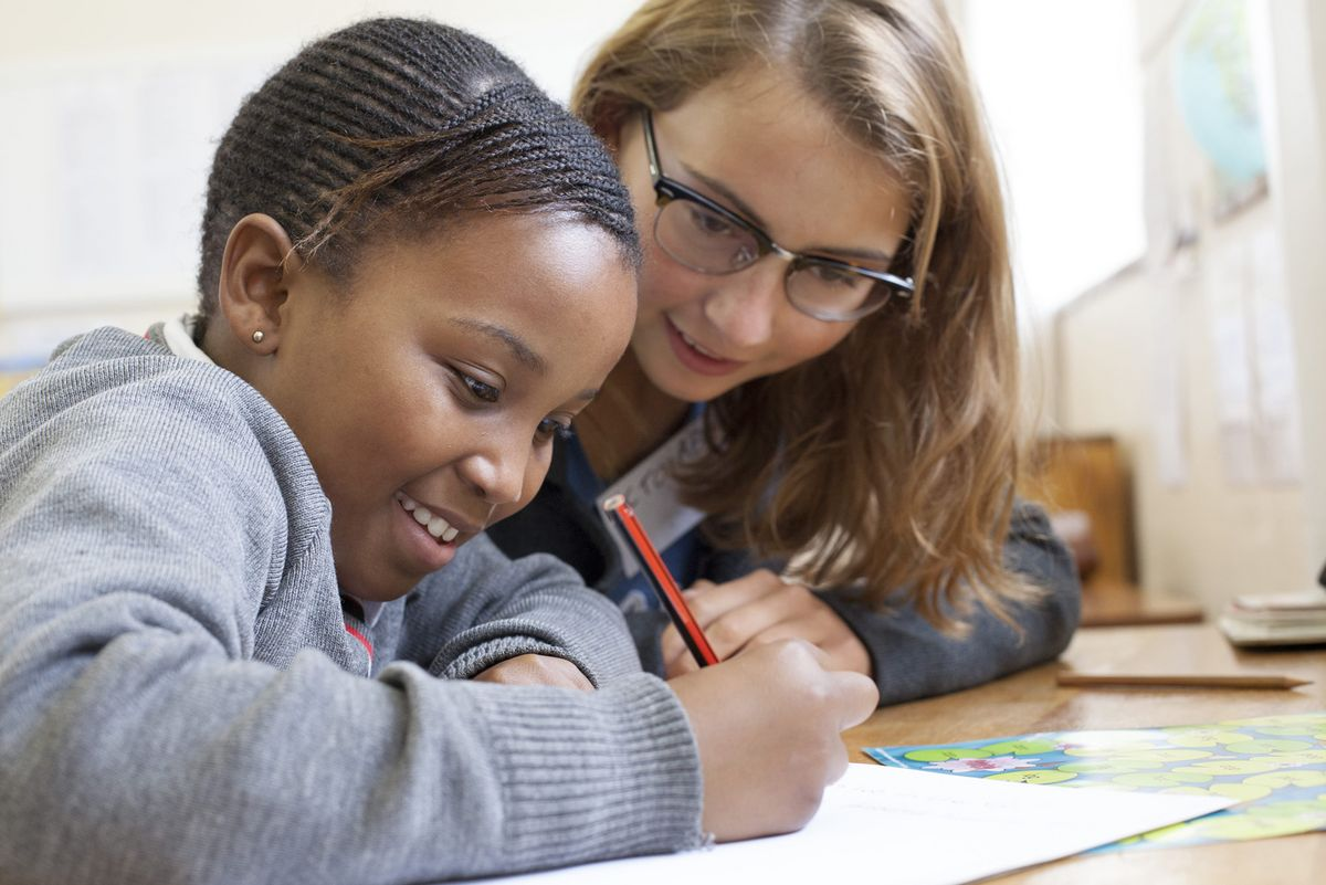 Teaching English to children in Cape Town