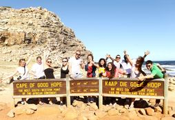 Students at the Cape of Good Hope